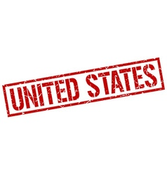 United States red square stamp vector image vector image
