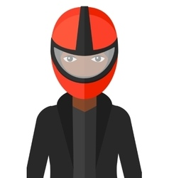 Woman in biker helmet vector image
