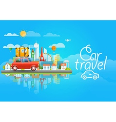 Dirrefent world famous sights modern cityscape vector