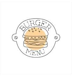 Burger on a metal plate with nails premium quality vector