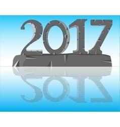 Numerals year 2017 vector image