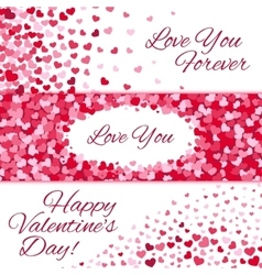 Valentines day sale love banners with vector