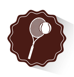 Tennis sport emblem icon vector