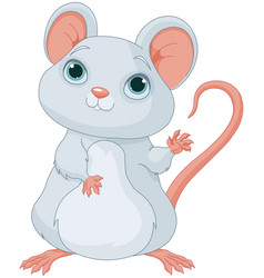 Adorable mice vector