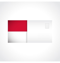 Envelope with indonesian flag card vector