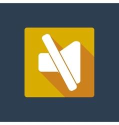 Mute button icon vector