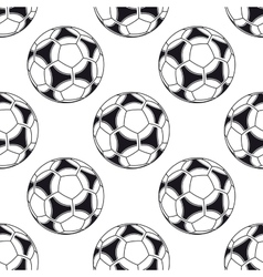 Football or soccer seamless pattern vector