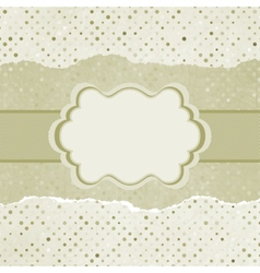Vintage card with space for text EPS 8 vector image