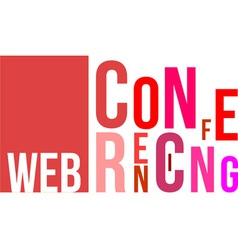 Word cloud web conferencing vector