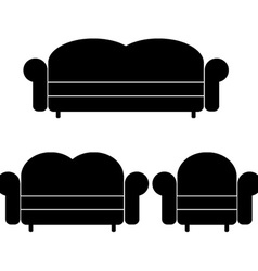 Sofas and armchair vector