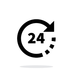 Round-the-clock icon on white background vector