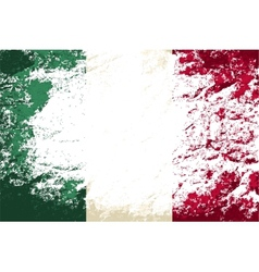 Italian flag grunge background vector