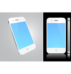 Touchscreen white smartphone concept vector