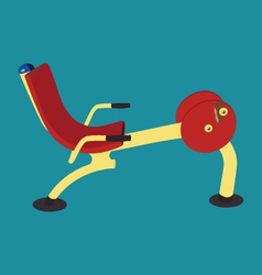 Outdoor public exercise machine vector