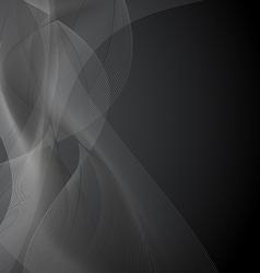 Dark Gray Background with Waves vector image