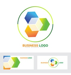 Corporate business cube logo vector