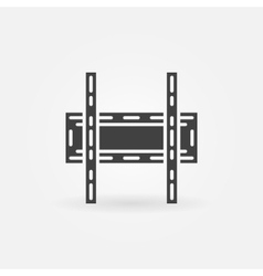 TV wall bracket icon vector image