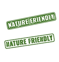 Two nature friendly grunge rubber stamps vector