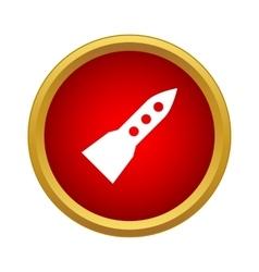 Flight rocket icon simple style vector