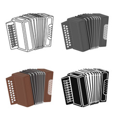 Accordion icon in cartoon style isolated on white vector