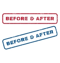 Before after rubber stamps vector