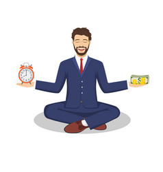 Businessman found his balance vector