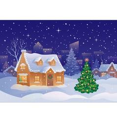 Christmas suburb vector