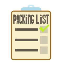 Clipboard with packing list icon cartoon style vector