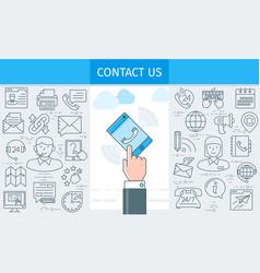 Contact us banner2 vector