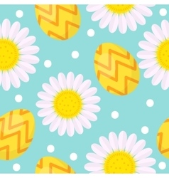 Cute Easter seamless pattern with eggs and vector image vector image