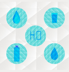 element of water triangle flat icon set drop and vector image