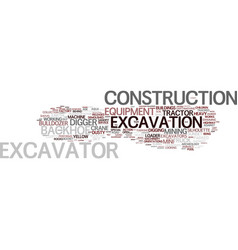 excavation word cloud concept vector image