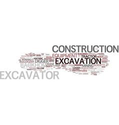 Excavation word cloud concept vector