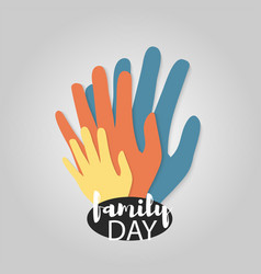 family day material web logo vector image