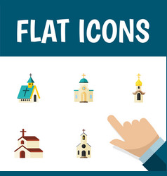 Flat icon building set of structure building vector