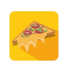 Fresh pizza delicious menu vector