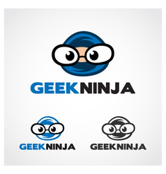Geek Ninja Symbol vector image vector image