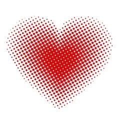 Heart halftone vector