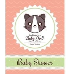 Kawaii cat baby shower design graphic vector