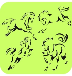 Light Horses - set Vinyl-ready vector image