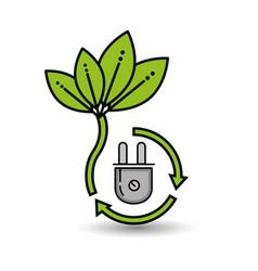 Natural green eco energy design vector