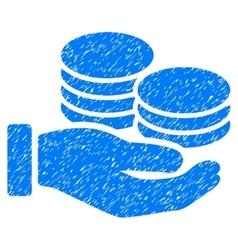 Salary hand grainy texture icon vector