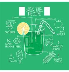 Simply green juice recipes great detoxifier vector