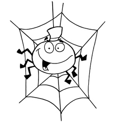 Spider cartoon vector image vector image
