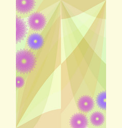 Spring background with cute purple flowers vector