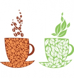 Tea or coffee vector