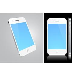 Touchscreen white smartphone concept vector