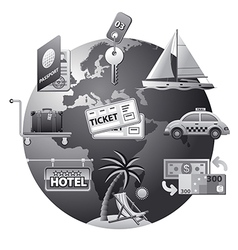 travel concept icon grey vector image