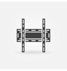 Tv wall bracket icon vector