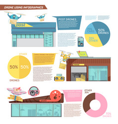 Using drone infographics vector